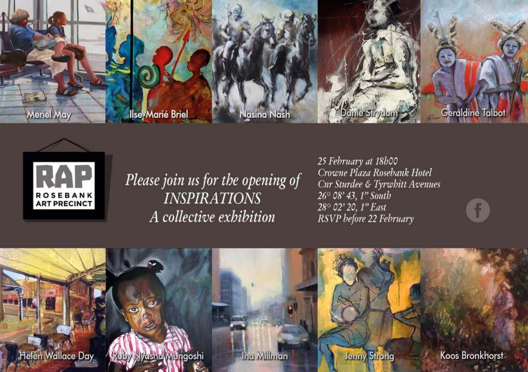 Rosebank Art Exhibition Invite